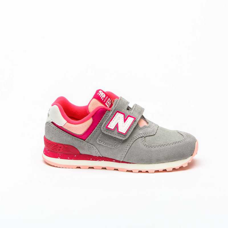 Sneakers New Balance 574 Bambina Grigio/Rosa online - Sneakers - prezzo: 75,00 € product_reduction_percent