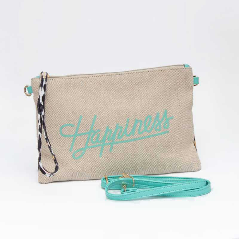 Tracolla Happiness Corda e Maculato online - Pochette - prezzo: 29,90 € product_reduction_percent