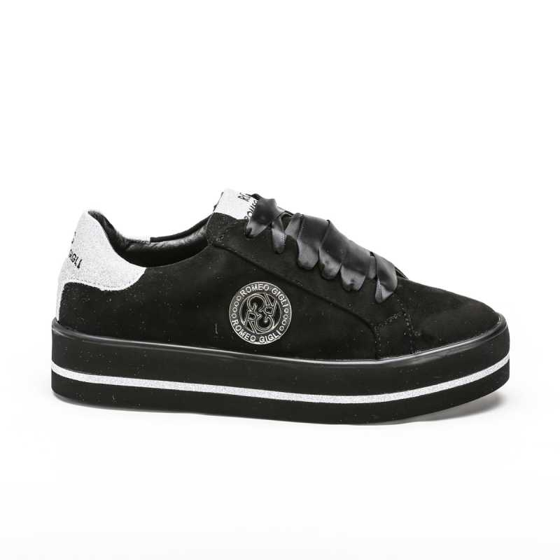 Sneakers Romeo Gigli Nera con Glitter Argento online - Sneakers - prezzo: 49,90 € product_reduction_percent