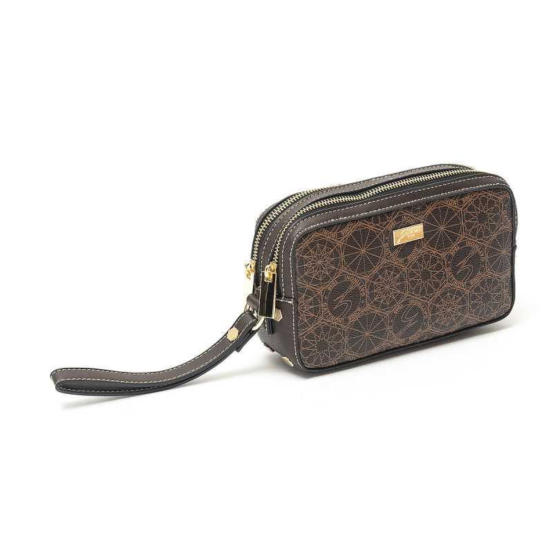 Pochette Beauty Gattinoni Roma Candy Marrone online - Pochette - prezzo: 39,90 € product_reduction_percent