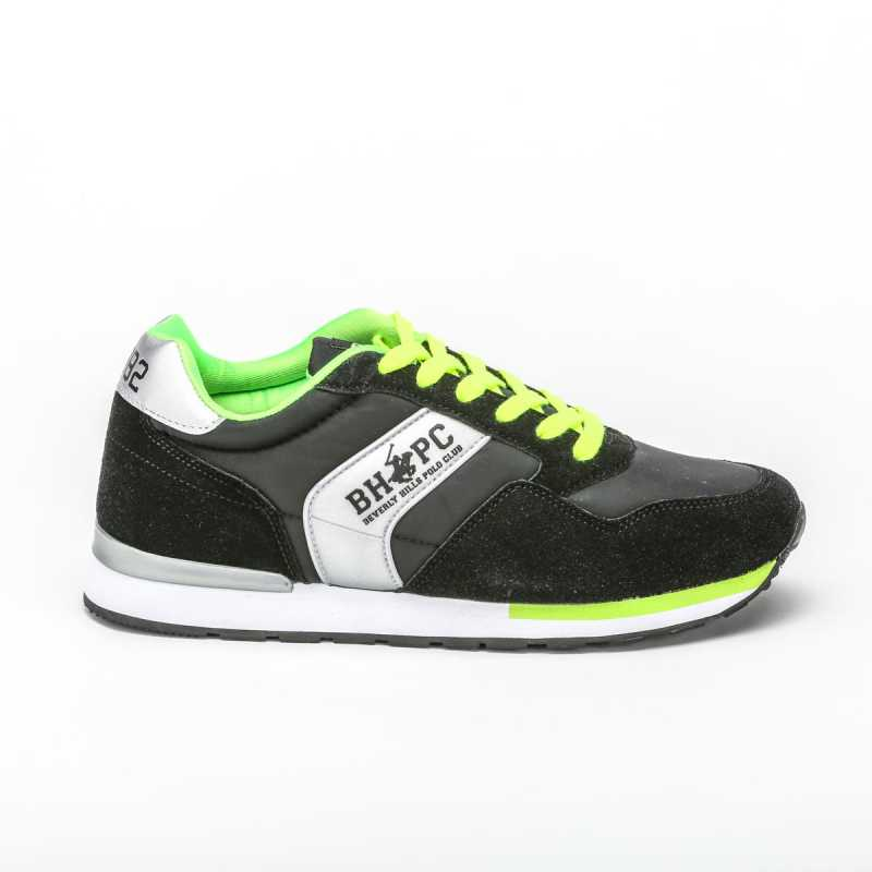 Sneakers Beverly Hills Polo Club Nero/Verde Fluo online - Sneakers - prezzo: 44,91 € -10%