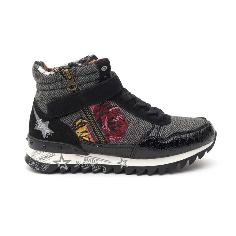 Sneakers Alta Fiorucci Nera con Ricamo online - Sneakers - prezzo: 39,90 € product_reduction_percent