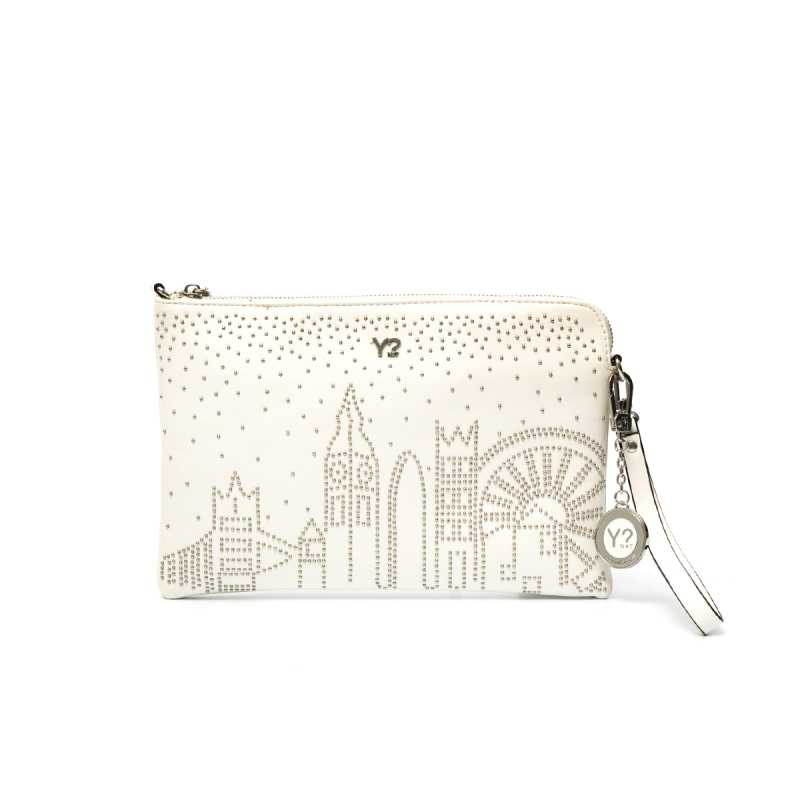 Pochette Y-Not Skyline Bianca online - Pochette - prezzo: 27,00 € product_reduction_percent