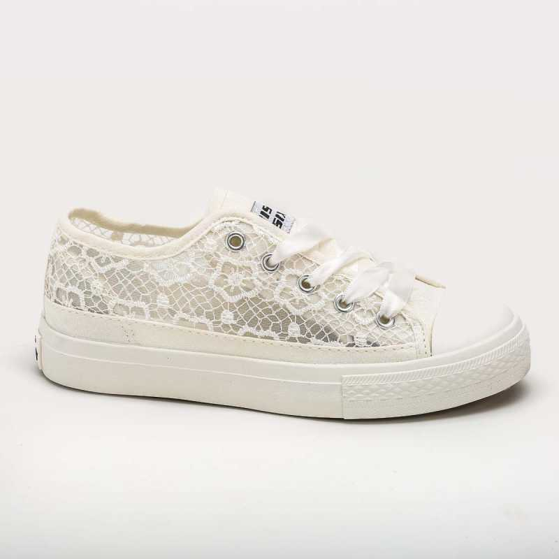 Sneakers Miss Sixty Elegante Pizzo Bianca online - Sneakers - prezzo: 39,90€ product_reduction_percent